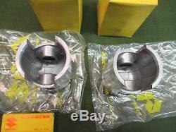 Suzuki T250 Pistons & Rings Set Nos Oem 0.50 Bore 12110-18750 12140-18720.18110
