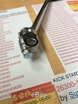 Suzuki T250 T350 T305 Tc305 T500 Gt250 Gt500 Nos Kick Start's' Bolt 26300-15000