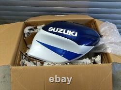 Suzuki TL1000R Tank weiß/blau, Neu, Fuel Tank, NOS