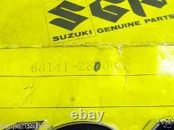 Suzuki TS125 Side Cover Badge x2 NOS TC125 OIL TANK Panel Emblem 68141-28000