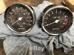 Suzuki X7 Set Of Clocks Nos