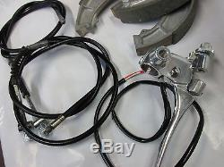 Suzuki gt550 gt750 nos front brake shoe set 1972 WITH CABLES AND LEVER ASSY