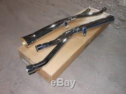 Vintage NOS Mac Chrome Slip On Flare Tip Mufflers Exhaust System Suzuki GS1000
