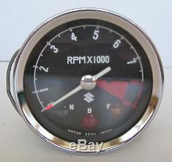 Vintage Nos Suzuki 9000 RPM (8000 Redline) Tachometer #3